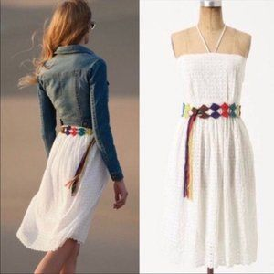 NWT Anthropologie HD Paris Blanched Eyelet Dress